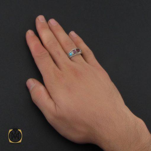 انگشتر پنج نگین معدنی دست ساز - کد 10243 - 5 46 510x510