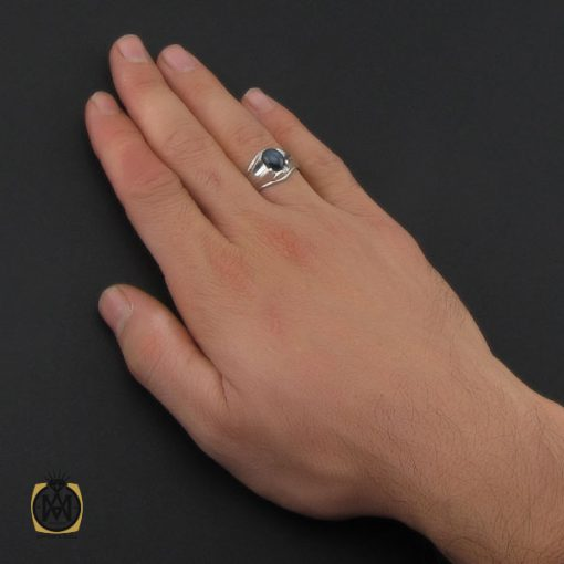 انگشتر یاقوت کبود استار مردانه - کد 10246 - 5 49 510x510