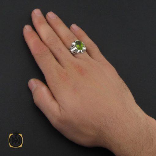 انگشتر زبرجد مردانه دست ساز هنر استاد صانعی- کد ۱۰۲۴۷
