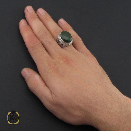 انگشتر یشم درشت مردانه دست ساز – کد ۱۰۲۵۷