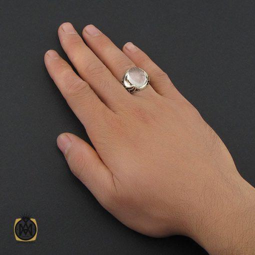 انگشتر دُر نجف مردانه - کد 10207 - 5 8 510x510