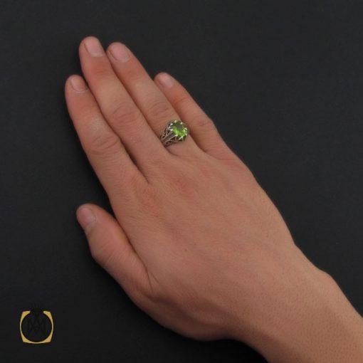 انگشتر زبرجد مردانه - کد 10287 - 5 85 510x510