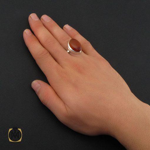 انگشتر عقیق یمن مردانه دست ساز - کد 10346 - 6 6 510x510