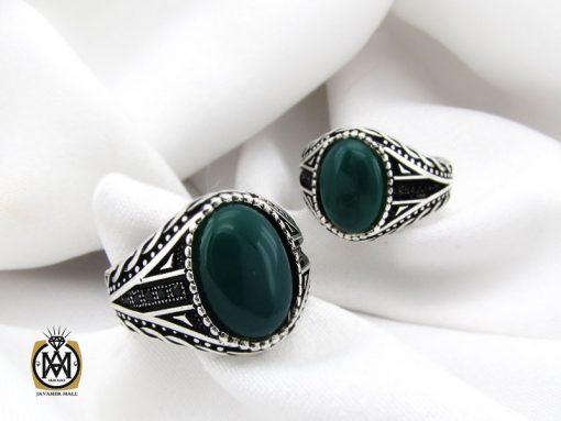 انگشتر عقیق سبز مردانه - کد 10471 - 00 197 510x383