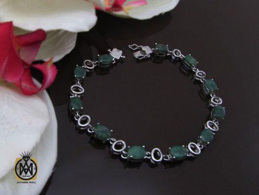دستبند زمرد معدنی طرح خاطره زنانه - کد 1093 - 00 226 510x383
