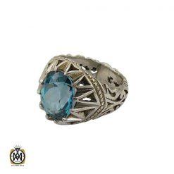 انگشتر توپاز سبز مردانه خوش رنگ - کد 8737 - 1 10 247x247