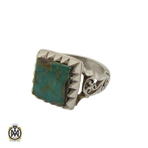 انگشتر فیروزه نیشابوری مردانه دست ساز - کد 10449 - 1 105 510x510