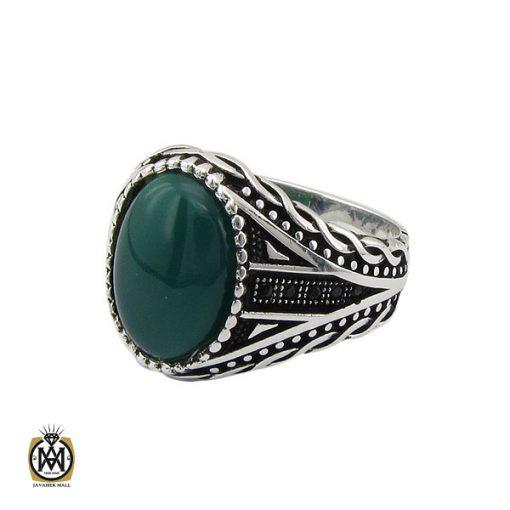انگشتر عقیق سبز مردانه - کد 10471 - 1 203 510x510