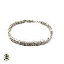 دستبند تنیسی نقره طرح زنانه - کد 1091 - 1 230 247x247