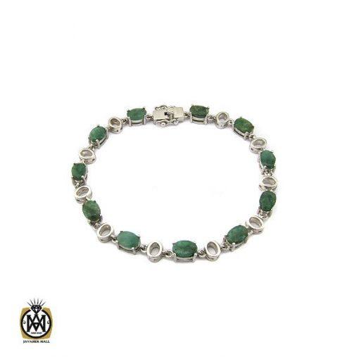 دستبند زمرد معدنی طرح خاطره زنانه - کد 1093 - 1 232 510x510