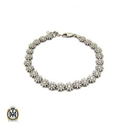 دستبند نقره زنانه طرح بهاره - کد 1090 - 1 233 247x247