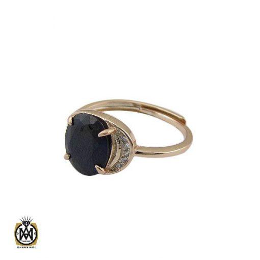 انگشتر یاقوت کبود خوش رنگ طرح غزاله زنانه - کد 2266 - 1 278 510x510