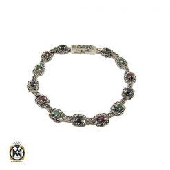 دستبند زمرد معدنی طرح خاطره زنانه - کد 1093 - 1 30 247x247