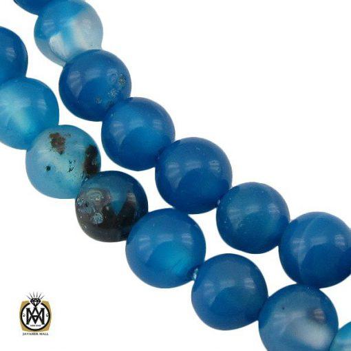 تسبیح 101 دانه عقیق آبی متوسط - کد 4223 - 1 46 510x510