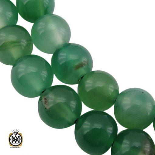 تسبیح 33 دانه عقیق سبز خوش رنگ - کد 4235 - 1 58 510x510