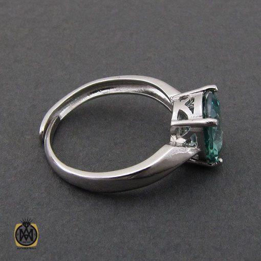انگشتر توپاز سبز طرح مهرنیا زنانه – کد ۲۱۹۰