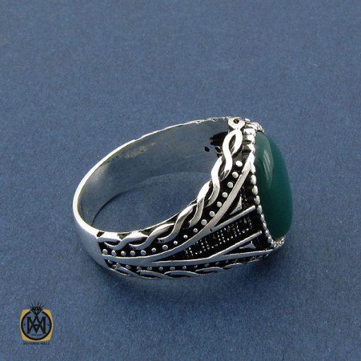 انگشتر عقیق سبز مردانه - کد 10471 - 2 203 510x510