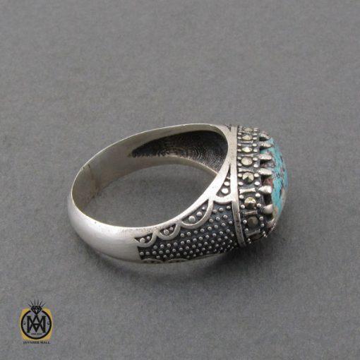 انگشتر فیروزه نیشابوری و مارکازیت مردانه - کد 10479 - 2 211 510x510
