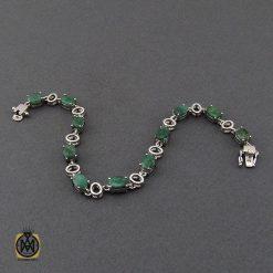 دستبند زمرد معدنی طرح خاطره زنانه - کد 1093