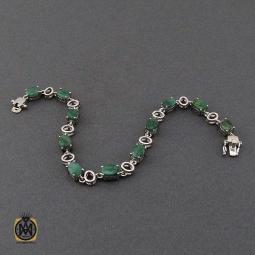 دستبند زمرد معدنی طرح خاطره زنانه - کد 1093 - 2 232 510x510