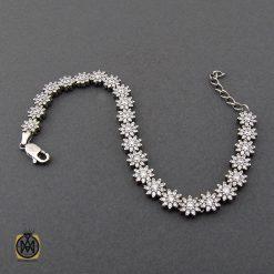 دستبند نقره زنانه طرح بهاره - کد 1090 - 2 233 247x247