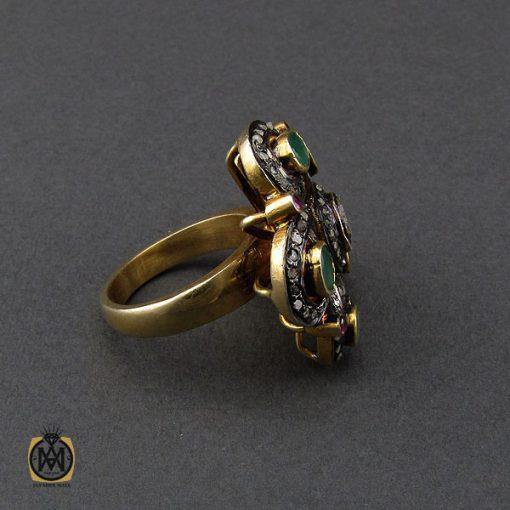 انگشتر الماس اصل و زمرد طرح نوشاد زنانه - کد 2184 - 2 82 510x510