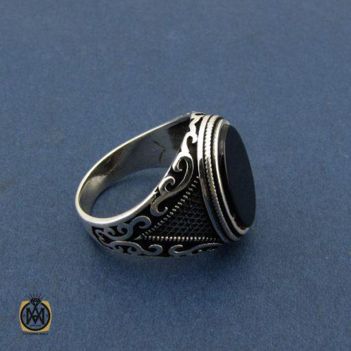 انگشتر عقیق مشکی مردانه – کد ۱۰۴۳۶