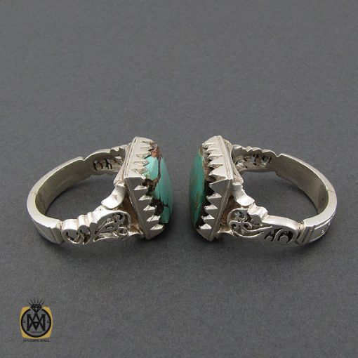 انگشتر فیروزه نیشابوری مردانه دست ساز - کد 10449 - 3 105 510x510