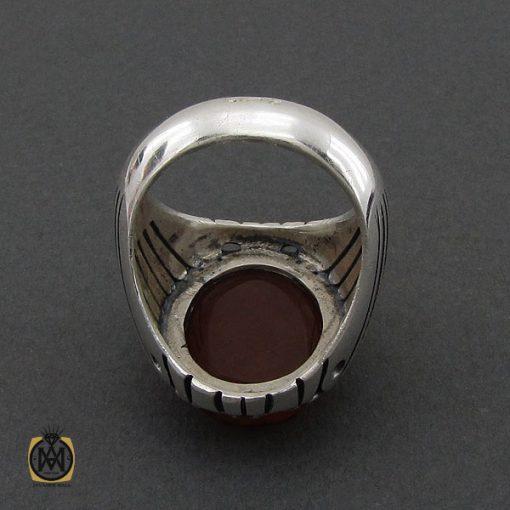 انگشتر عقیق یمن با حکاکی هو رب العرش العظیم آینه ای مردانه دست ساز - کد 10451 - 3 108 510x510