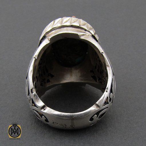 انگشتر فیروزه نیشابوری مردانه مرغوب و درشت - 10454 - 3 155 510x510