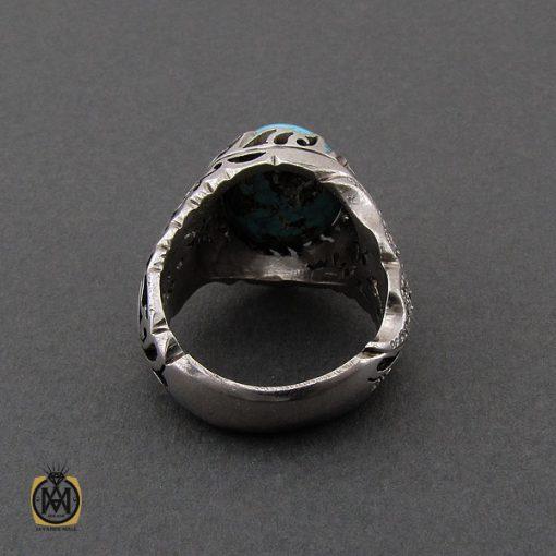 انگشتر فیروزه نیشابوری و برلیان اصل مردانه خوش رنگ - 10458 - 3 158 510x510