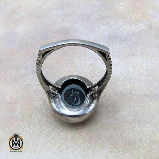 انگشتر حدید صینی با حکاکی یا محمد زنانه - کد 2173 - 3 17 510x510