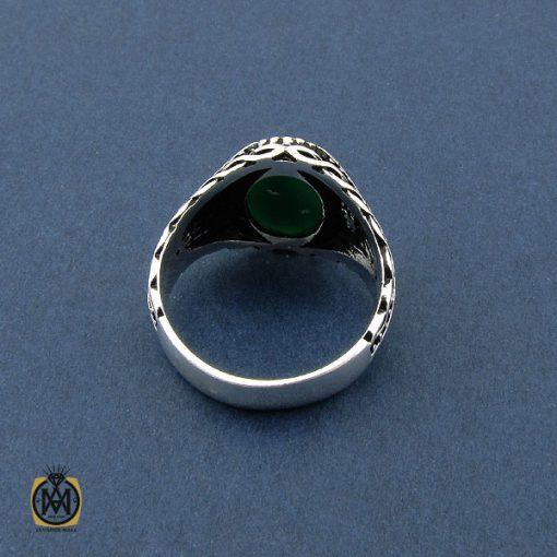 انگشتر عقیق سبز مردانه - کد 10471 - 3 200 510x510