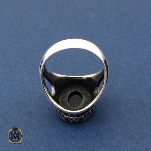 انگشتر عقیق مشکی مردانه - کد 10473