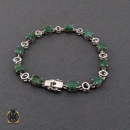 دستبند زمرد معدنی طرح خاطره زنانه - کد 1093 - 3 229 510x510