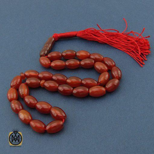 تسبیح ۳۳ دانه هلی عقیق قرمز – کد ۴۲۴۰