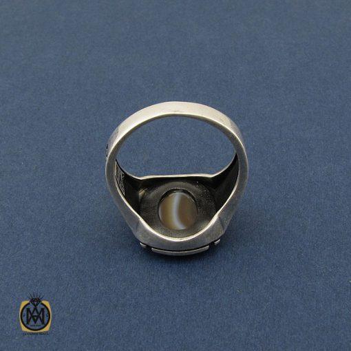 انگشتر عقیق سلیمانی طرح ورساچه مردانه - کد 10439 - 3 95 510x510