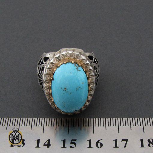 انگشتر فیروزه نیشابوری مردانه مرغوب و درشت - 10454 - 4 154 510x510
