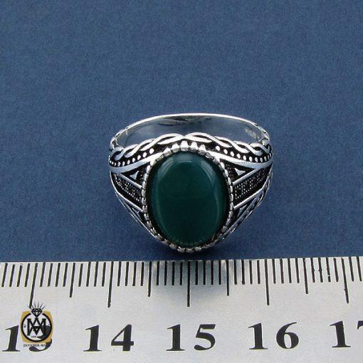انگشتر عقیق سبز مردانه - کد 10471 - 4 201 510x510