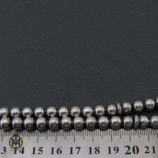 تسبیح 33 دانه نقره گرد طرح نقره ای - کد 4309 - 4 236 510x510