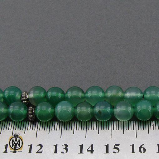 تسبیح 33 دانه عقیق سبز خوش رنگ - کد 4235 - 4 58 510x510
