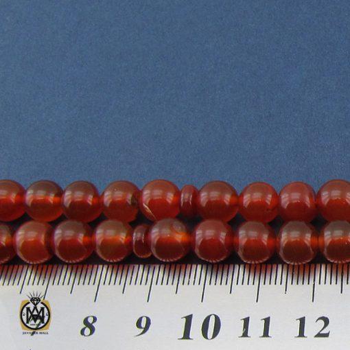 تسبیح ۱۰۱ دانه عقیق قرمز درشت – کد ۴۲۴۱