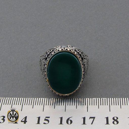 انگشتر عقیق سبز مردانه - کد 10444 - 4 99 510x510