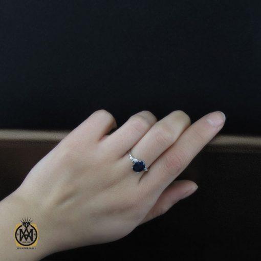 انگشتر یاقوت کبود طرح تبسم زنانه - کد 2198 - 5 123 510x510