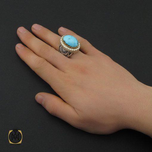 انگشتر فیروزه نیشابوری مردانه مرغوب و درشت - 10454 - 5 133 510x510