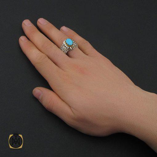 انگشتر فیروزه نیشابوری مردانه خوش طبع و ارزشمند - 10456 - 5 134 510x510