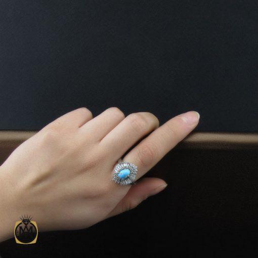 انگشتر فیروزه نیشابوری طرح پادینا زنانه - کد 2205