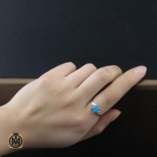 انگشتر فیروزه نیشابوری طرح دیبا زنانه - کد 2208 - 5 150 510x510