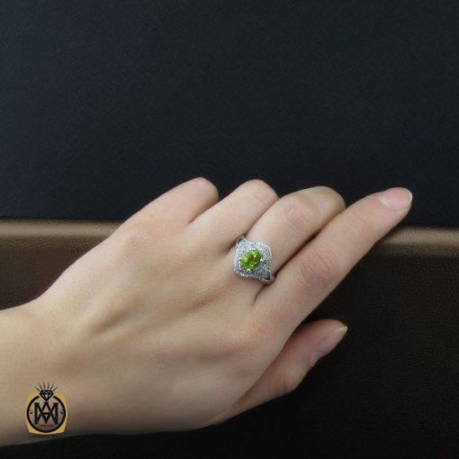 انگشتر زبرجد طرح آرام زنانه – کد ۲۲۱۹
