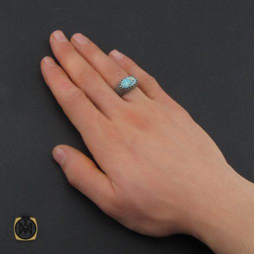 انگشتر فیروزه نیشابوری و مارکازیت مردانه - کد 10479 - 5 188 510x510